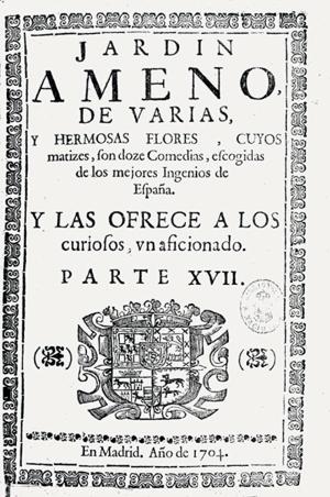 Portada de uno de los volúmenes de la colección Jardín Ameno