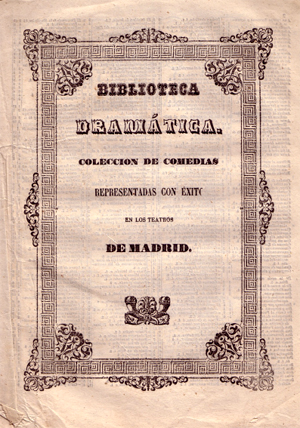 obra perteneciente a la colección Biblioteca Dramática