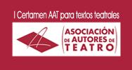 I Certamen AAT para textos teatrales