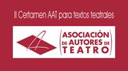 II Certamen AAT para textos teatrales