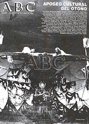 Portada de ABC con la noticia del estreno de La Celestina en el CBA (20/08/1984).