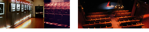 Izquierda, Lagrada Teatro. Derecha, Teatro Liberarte.