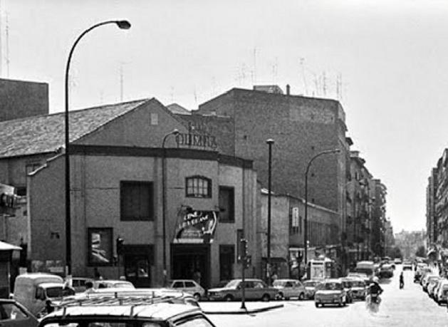 La Sala Olimpia de Madrid en los años 80.