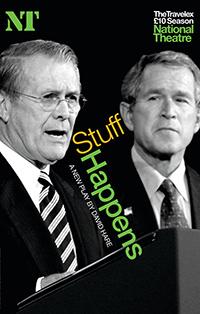 Stuff Happens, de David Hare. Imagen del cartel promocional.