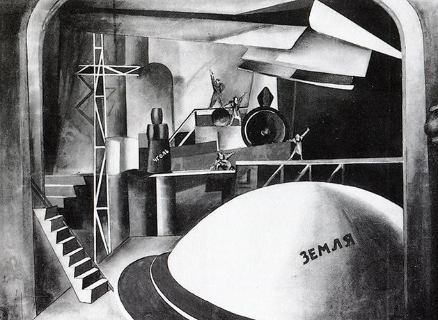 Anton Lavinsky, Escenografía de Misterio Bufo (segunda versión), 1921.