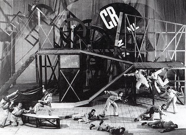 Liubov Popova, representación de El Cornudo Magnífico, 1922.