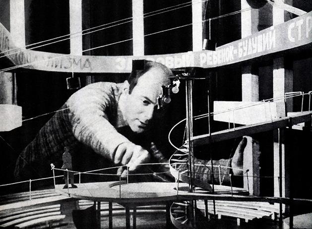 El Lissitzky, maqueta para el montaje de ¡Quiero un niño!, 1928-1929.