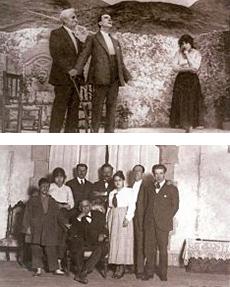 Galdós con la Xirgu, los Quintero, el actor Paco Fuentes y demás actores de Marianela - 1916.