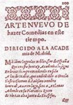 El Arte Nuevo de Hacer Comedias (Lope de Vega, 1609)
