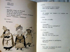 Una escena de Las tres reinas magas. Escritora: Gloria Fuertes. Ilustración Beatriz Ujados.