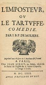 Prefacio a la edición de Tartufo MOLIÈRE. 1669