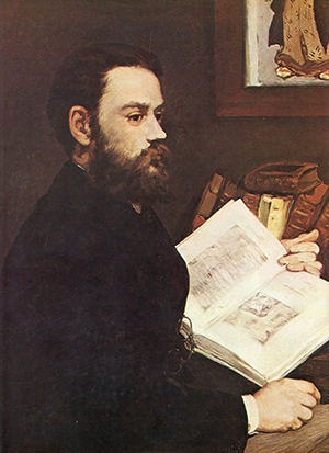 """Retrato de Émile Zola"" (fragmento), de Manet. Musée d'Orsay."