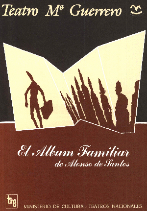 Programa de mano de El álbum familiar, de José Luis Alonso de Santos. Teatro María Guerrero de Madrid, 1982.