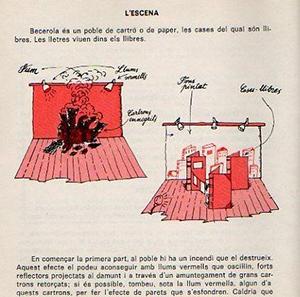 De A Becerola fan ballades, de Anna Murià. Cubierta e ilustraciones: Pere Virgili Teatre, Joc d'Equip – Nº21. Edició en Catalá. Ed. La Galera, 1978.