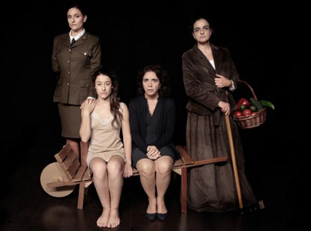 Isabel Torrevejano, Nagore Germes, María Segalerva y María Felices, las cuatro protagonistas de Tejas Verdes.
