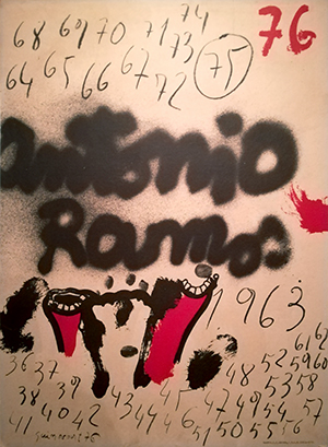 Cartel deAntonio Ramos, 1963, de Miguel Signes