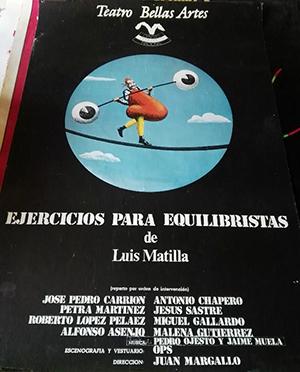 Cartel de Ejercicios para equilibristas, de Luis Matilla.