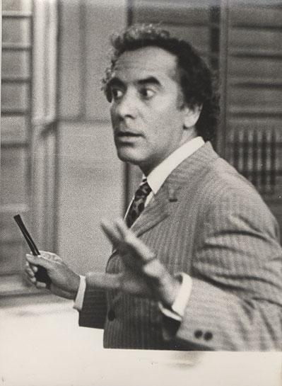 Ensayo en el Guitis, Moscú, 1974.