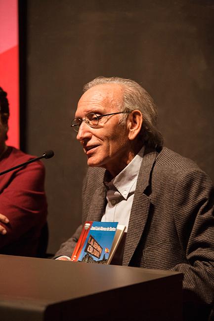 José Luis Alonso de Santos en la presentación de novedades de Ediciones Irreverentes (XIV Salón Internacional del Libro Teatral, 19-X-2013).